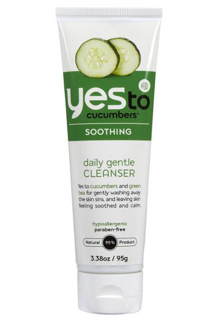 Oily Skin  Cleanse without stripping with Yes to Cucumbers Soothing Daily Gentle Cleanser, a sulfate-free wash that mildly astringes with natural and organic cucumber. Aloe vera gently moisturizes and calms.