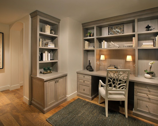 I love the grey cabinets!