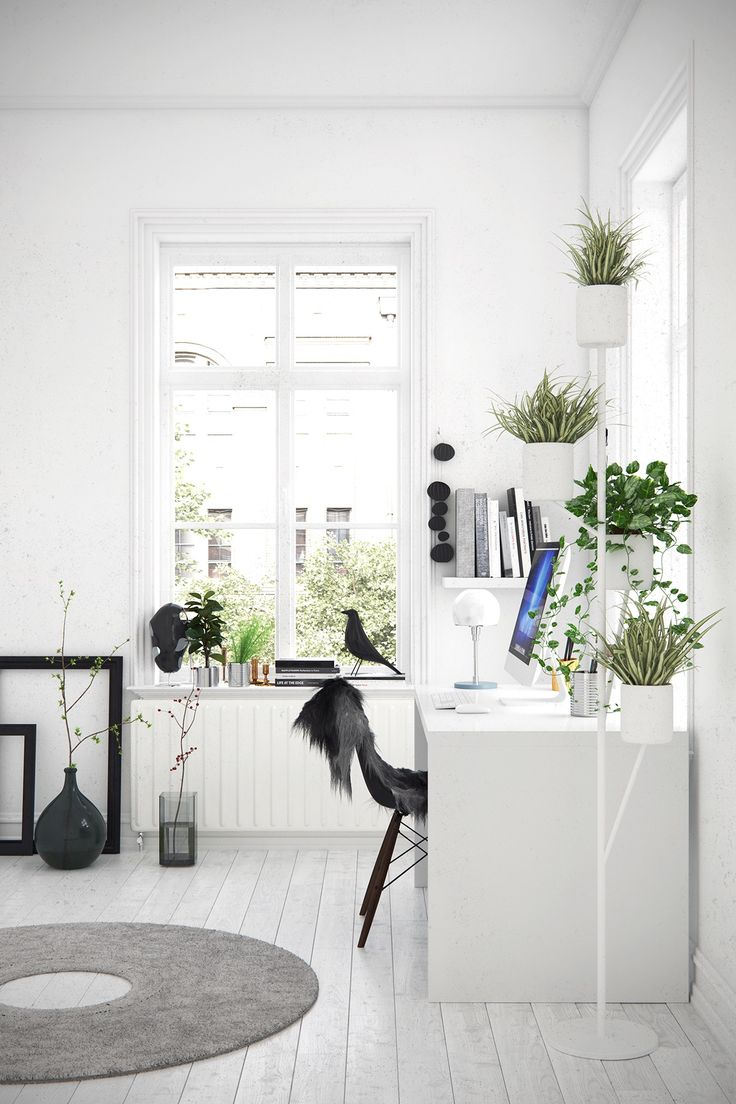 "homedesigning: "" (via 25 Stunning Scandinavian Workspaces) """