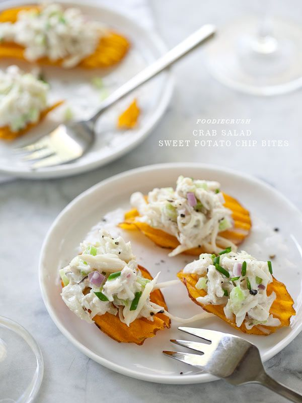 apparel usa Crab Salad Sweet Potato Chip Bites and a Virtual Baby Shower  Recipe