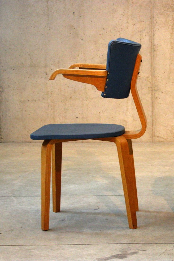 Cor Alons and J.C. Jansen; Molded Plywood Armchair for Den Boer, c1950.