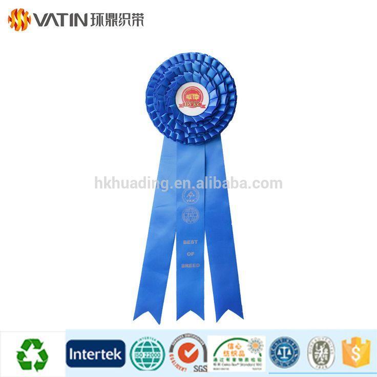 Wholesale Custom Logo Colorful Printed Sports Award Ribbon Rosettes