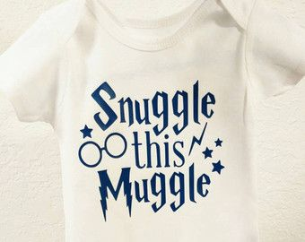 Funny Onesie Snuggle this Muggle Harry Potter Onesie by WordsOfIvy