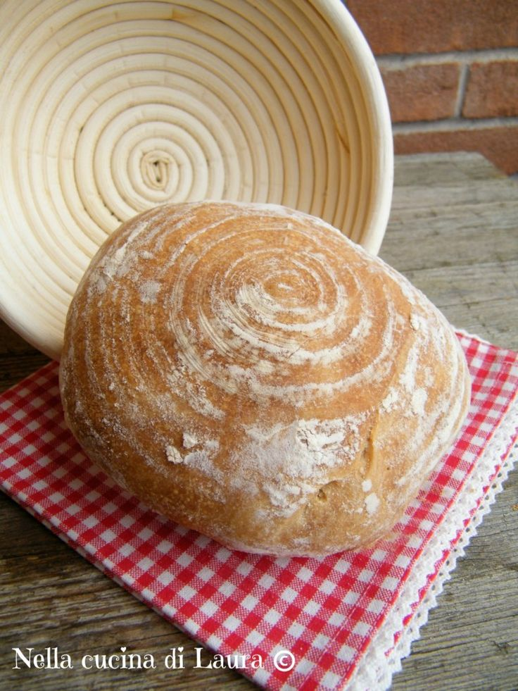 pane comune a lievitazione naturale - nella cucina di laura