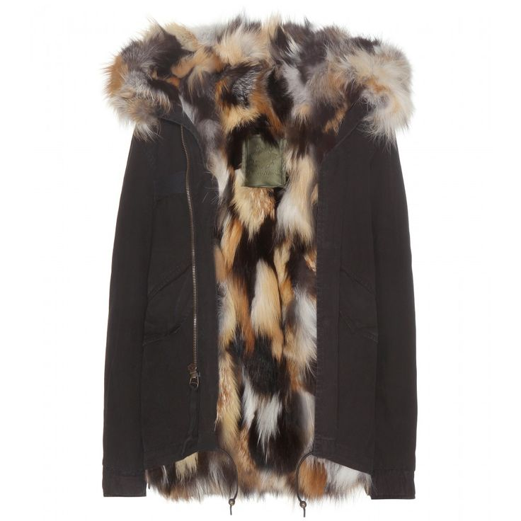 Mr & Mrs Italy - Miniparka Fox fur-lined coat - Mr & Mrs Italy's iconic parka just got downsized to this shorter style. Fully lined in the softest fox fur, we love the pop of the multi toned interior against the classic black - perfect for a earthy remix of the military trend. Keep the cold air at bay with this gorgeous winter warmer. seen @ www.mytheresa.com