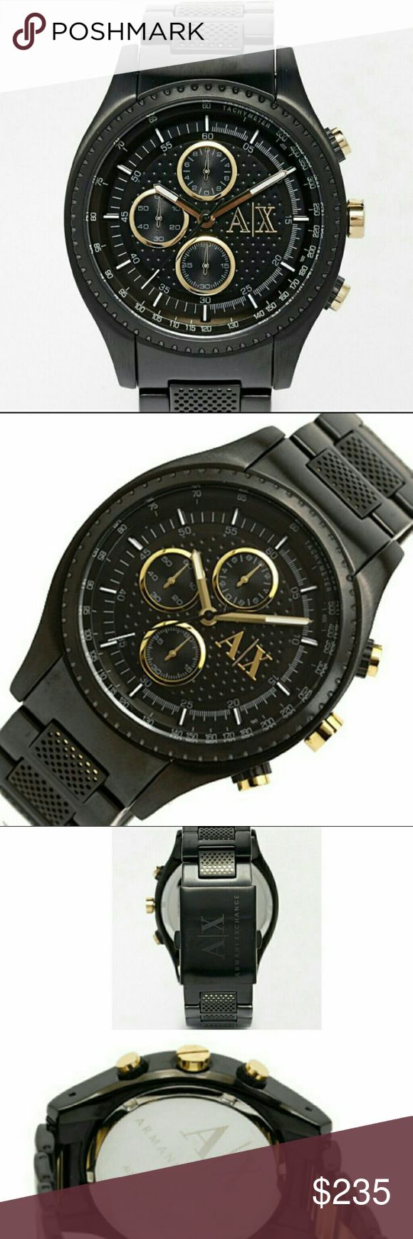 sale,NWT Armani Exchange Chronograph watch Sunday sale   NWT Armani Exchange Men's Chronograph Black Watch  FIRM PRICE FIRM PRICE FIRM PRICE FIRM PRICE  242.00 . AUTHENTIC WATCH  . AUTHENTIC BOX  . AUTHENTIC MANUAL  SHIPPING  PLEASE ALLOW FEW BUSINESS DAYS FOR ME TO SHIPPED IT OFF.I HAVE TO GET IT FROM MY WAREHOUSE  THANK YOU FOR YOUR UNDERSTANDING Armani Exchange  Accessories Watches