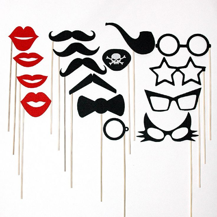 PHOTOBOOTH PROPS Fun Wedding Party Mustache On a Stick Photography Props - Photo Booth Prop Shop
