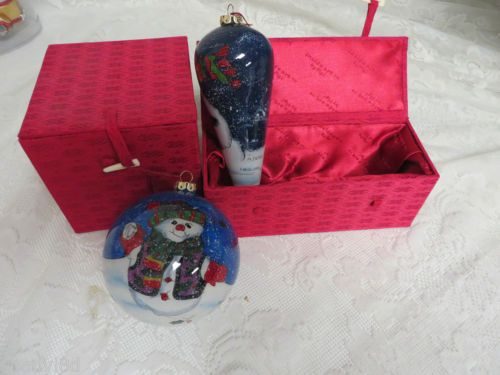 FIGI INSIDE ART M Parker Holiday Hanging Ornaments Snowmen Numbered Collectibles