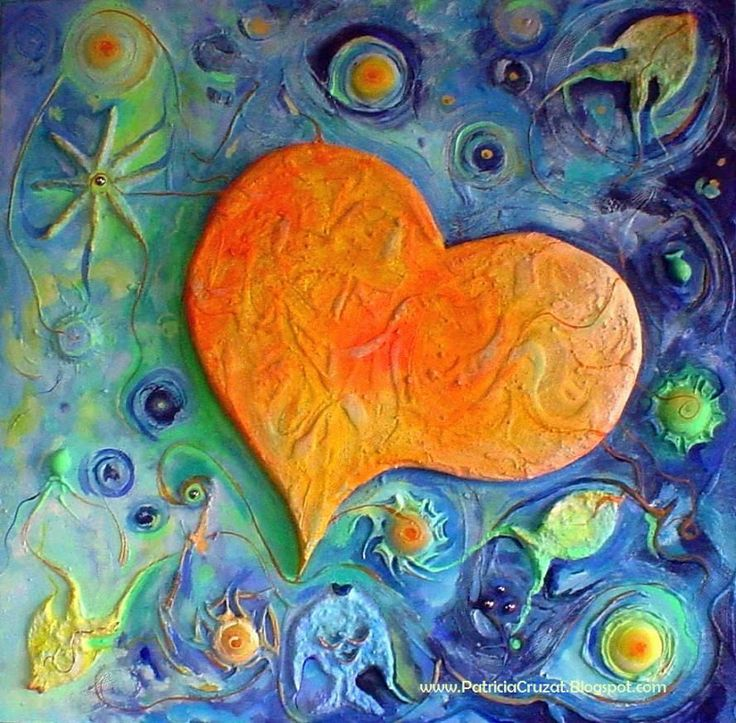 CORAZON AMARILLO 100x100cm. Pintura en relieve sobre tela con bastidor Patricia Cruzat Rojas: corazón