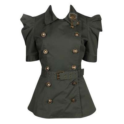 military jackets for women forever 21 | Forever 21 - Twist - Double Breasted Squadron Jacket | ThisNext