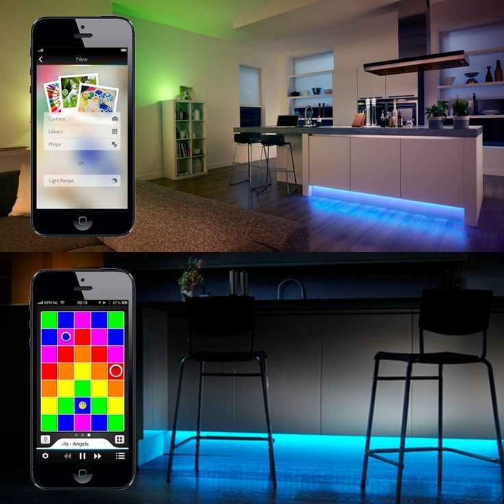 The Philips Hue LightStrips would be great for replacing older indirect lighting.
