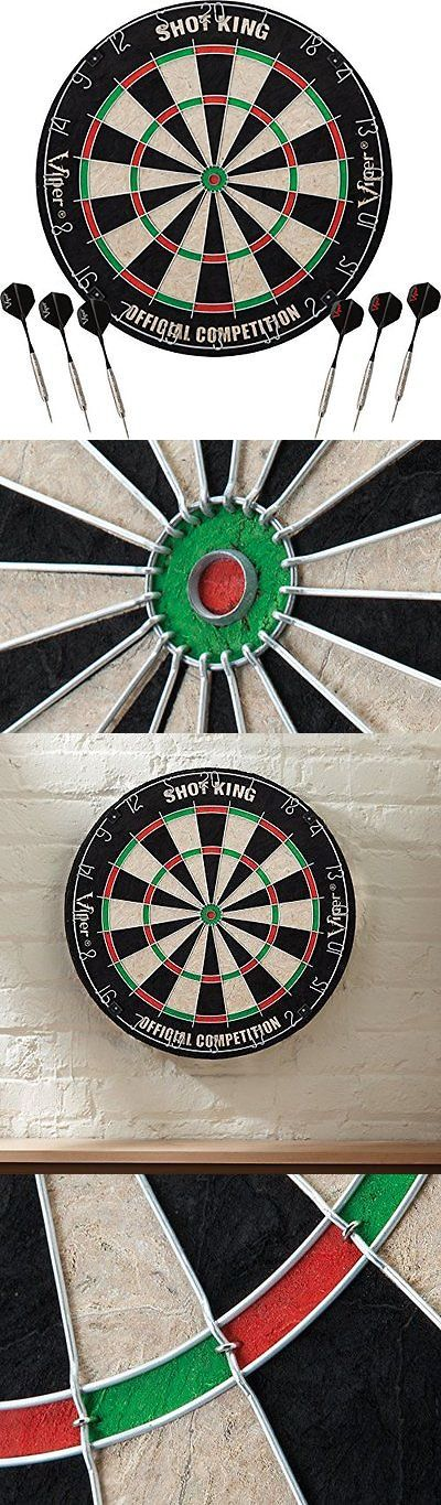 Dart Boards 72576: Dartboard Viper Shot King Sisal Fiber Bristle Dartboard Dart Board 6 Darts New ? -> BUY IT NOW ONLY: $42.95 on eBay!