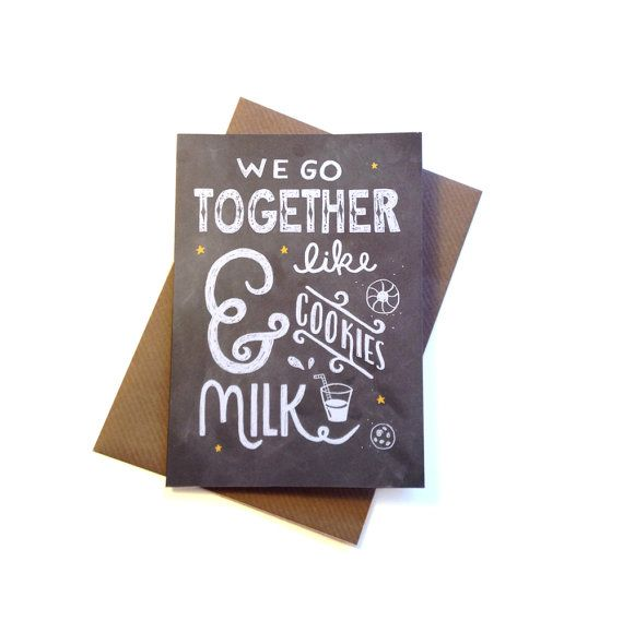 We Go Together Like Milk and Cookies  Hand by stephsayshello, £2.75