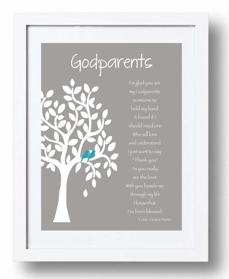 GODPARENTS personalized gift 8x10 Print by KreationsbyMarilyn