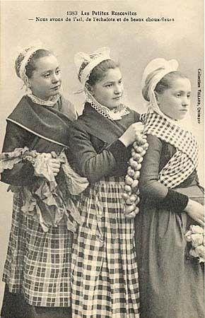 carte postale ancienne les petites Roscovites