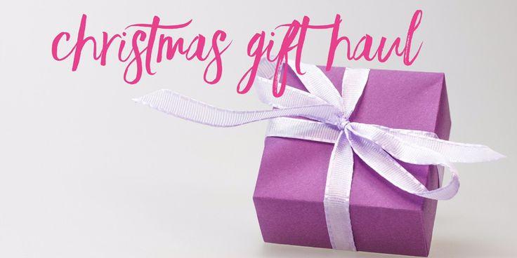 Christmas gift haul