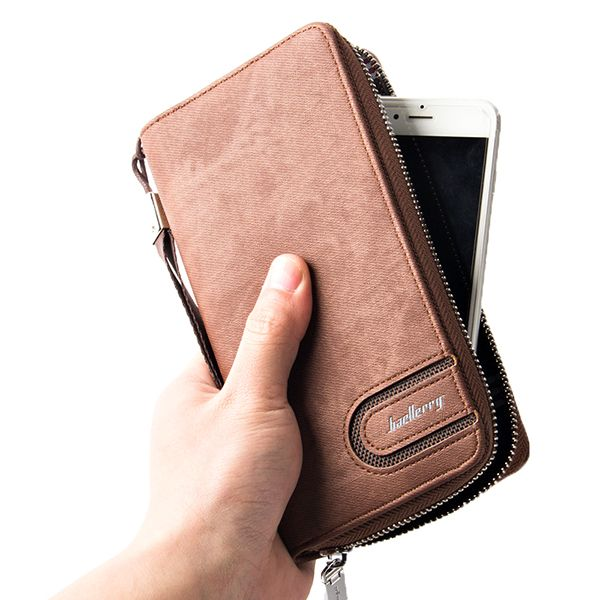 PU Leather Wallet 8 Card Slots Casual Vintage Clutch Bag For Men Shopping Online - NewChic Mobile