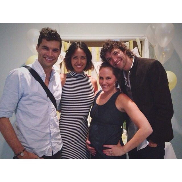 Joel Smallbone and wife, Moriah Peters with Luke Smallbone and wife, Courtney. Australian Christian brothers of For KING & COUNTRY
