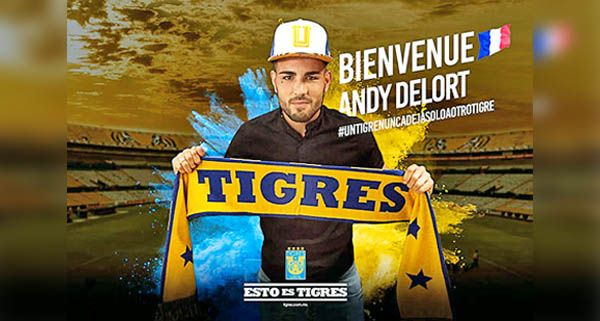 Andy Delort nuevo, refuerzo de Tigres