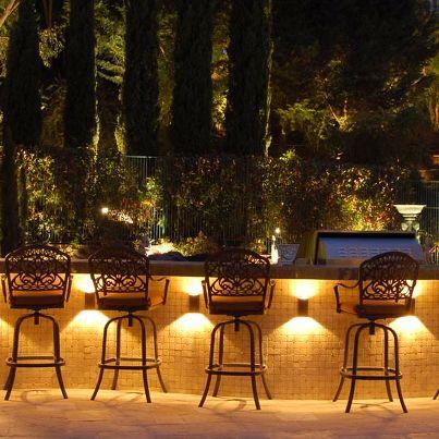 great outdoor bar love the lights under outdoor. Black Bedroom Furniture Sets. Home Design Ideas