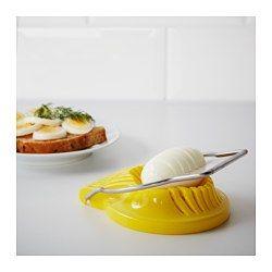 IKEA - SLÄT, Egg slicer, The removable steel frame makes the egg slicer easy to clean.