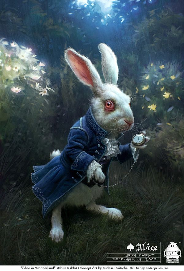 """Alice in Wonderland"" White Rabbit Concept Art by Michael Kutsche"
