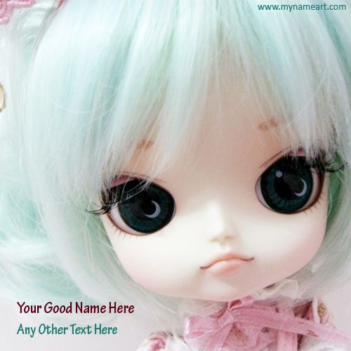 serious and emotional face pose of baby doll with silver color silky hair picture with your name.you can write and print your message and name on this image free online.black big eye looking very cute girl doll image.write your name on doll pics free and download free for wishes and greeting.doll pics with name online photo generator.after create online photo with name you can use to share social website like facebook and whatsapp dp.you can create whatsapp dp baby doll.