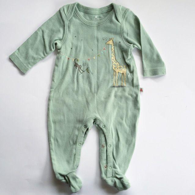 Baby Gap 0-3M boys footie pajamas with giraffe and monkey.   Baby Gap 0-3M Giraffe Monkey Footie Pajamas Baby Gap  Love this! #kidsfashion #familyfashion