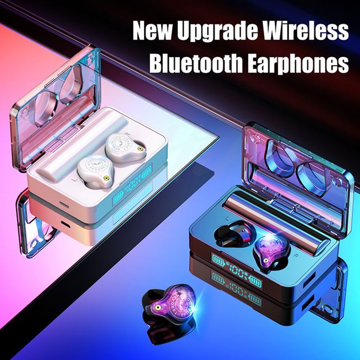 3600mah Led سماعات بلوتوث لاسلكية سماعة Ipx7 مقاوم للماء التحكم باللمس الرياضة إلغاء الضوضاء سماعة وسادات أذن Wireless Bluetooth Bluetooth Earphones Bluetooth