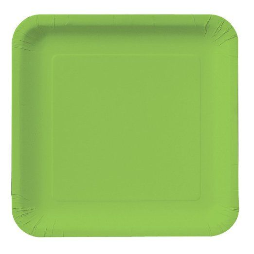 Creative Converting Touch of Color 18 Count Square Paper Lunch Plates, Fresh Lime : Amazon.com : Kitchen & Dining