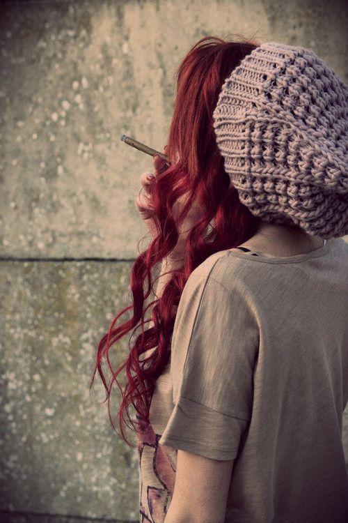 Blue dress red hair marijuana