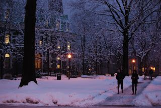 Fordham University in the Winter