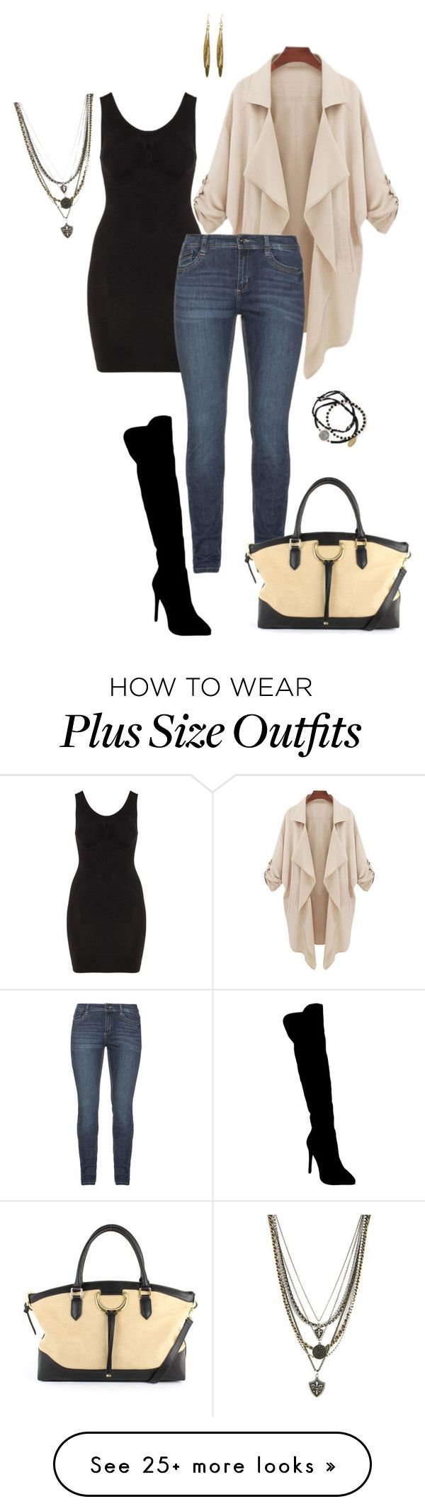 """Wear it anyway- plus size"" by gchamama on Polyvore featuring Atmos&Here, London Fog, Ettika, Feather & Stone and Towne & Reese"