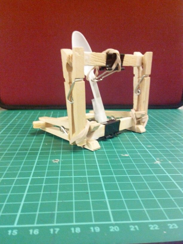 Catapult Craft For Kids: DIY Clothespin Catapult