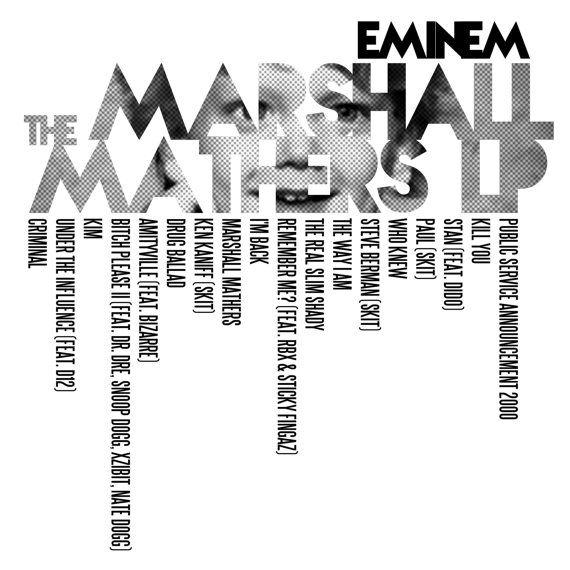 The Marshall Mathers LP - Eminem / Album Cover Art LP Poster on Etsy, $20.87