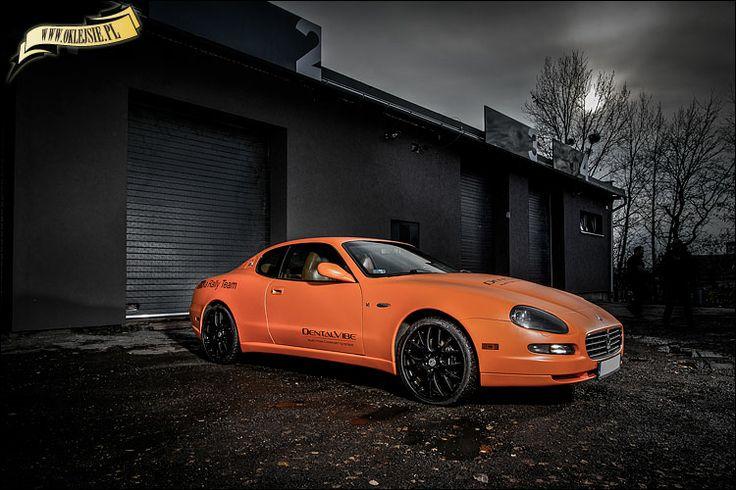 orange matte maserati from www.oklejsie.pl