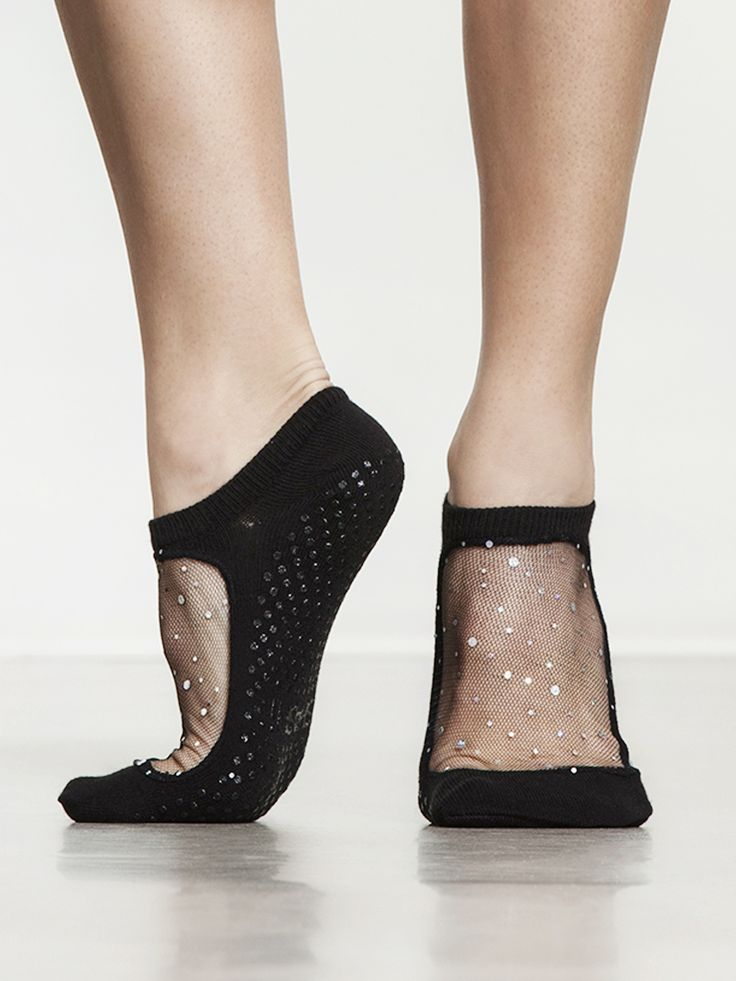 Star Cool Feet Socks in Star Black by Shashi from Carbon38