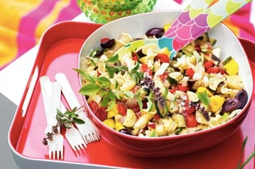 Celebrate outdoors with this easy pasta salad dish to go!