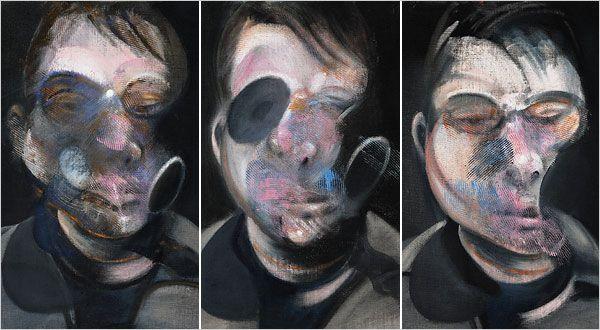 """Francis Bacon"""" Trois études pour Autoportrait """"(1976)"""
