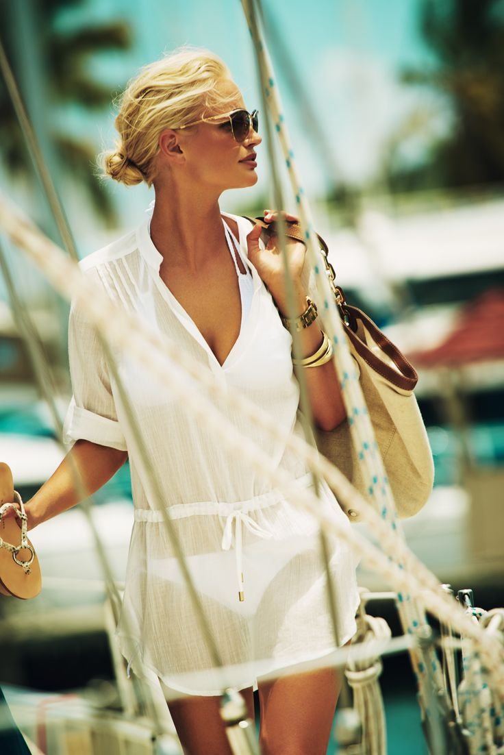PILAT tuniek van Heidi Klein, perfect voor over je bikini! www.stylisbeachwear.com