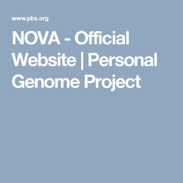 NOVA - Official Website | Personal Genome Project