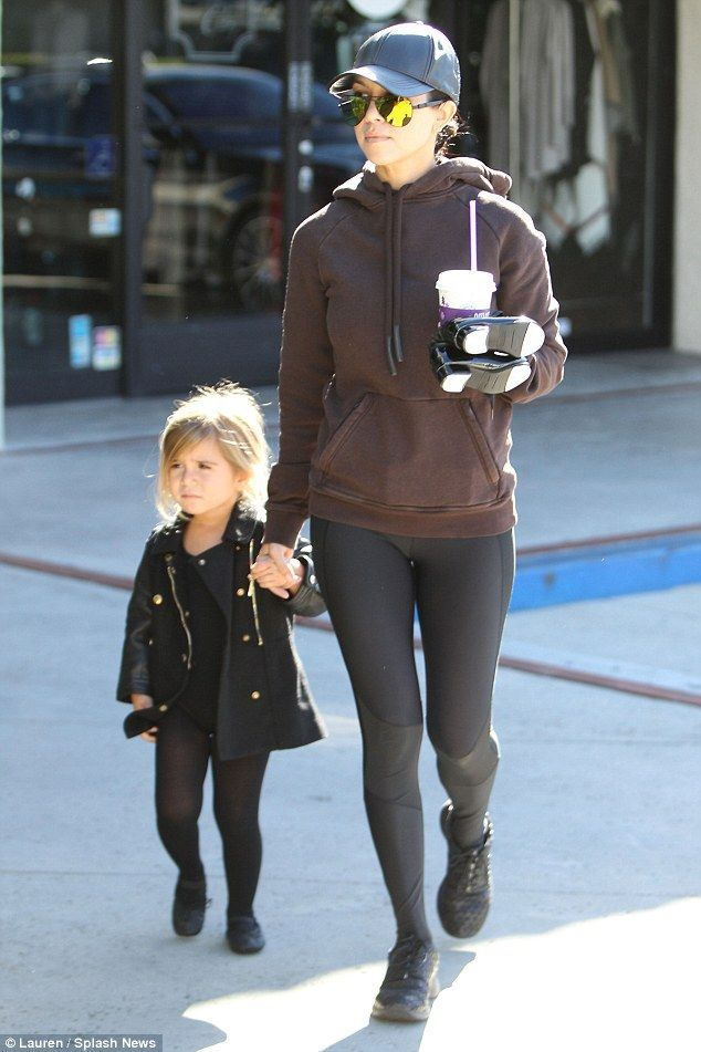 Just the two of us! Kourtney Kardashian stepped out in Tarzana, California on Wednesday to take three-year-old daughter Penelope to ballet class