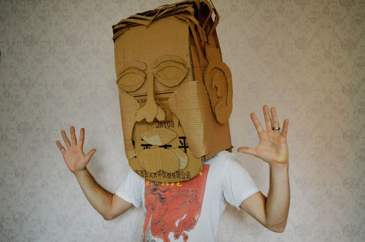 how to build cardboard head mask