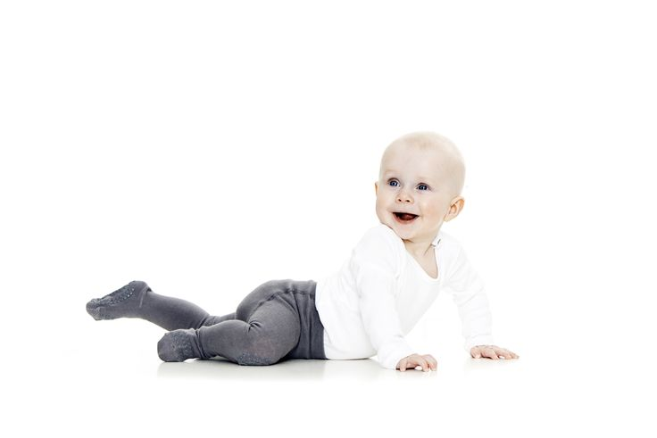 GoBabyGo crawling tights with rubber pads on knees and under foot for better stability