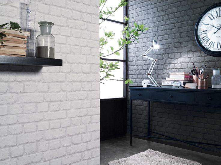 les 25 meilleures id es de la cat gorie papier peint imitation brique sur pinterest stickers. Black Bedroom Furniture Sets. Home Design Ideas