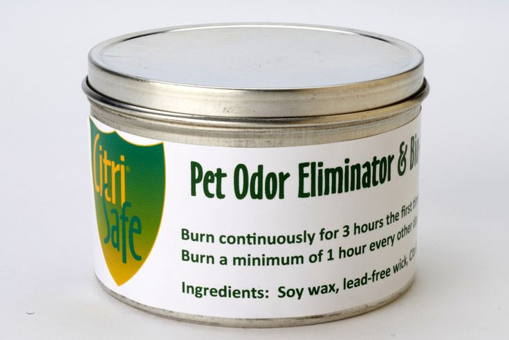 Pet Odor Eliminator & Bio-Balancing Candle - Rely on our specially formulated soy-based candles to help maintain a pleasant environment. They emit a safe, odorless concentrate of citrus and vegetable extract. Whether at home, work or traveling, you can easily create comfortable surroundings to help you relax and thrive. Produced in a tin container with a lid.