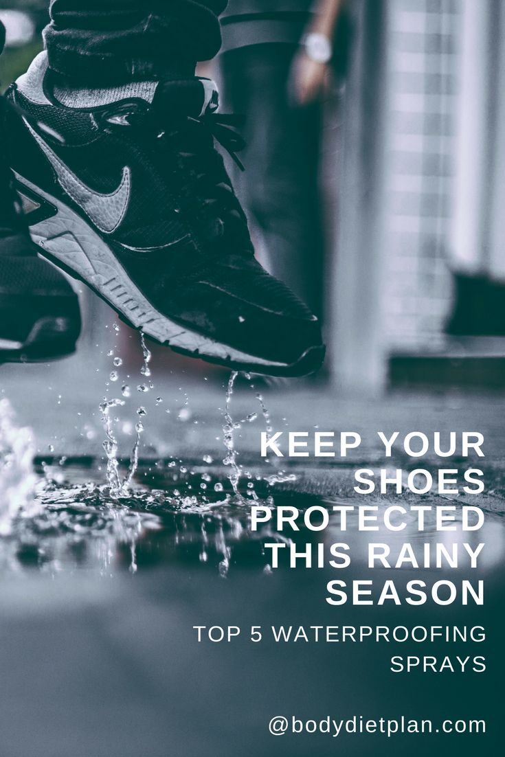 Autumn is coming!  Keep your shoes protected and your feet dry with the best  prepared for the rainy season with the best fabric waterproofing spray.