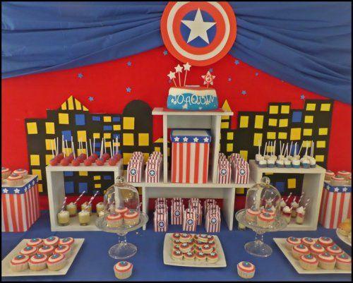 Fiesta Temática Capitán América | Francifiesta Eventos Infantiles
