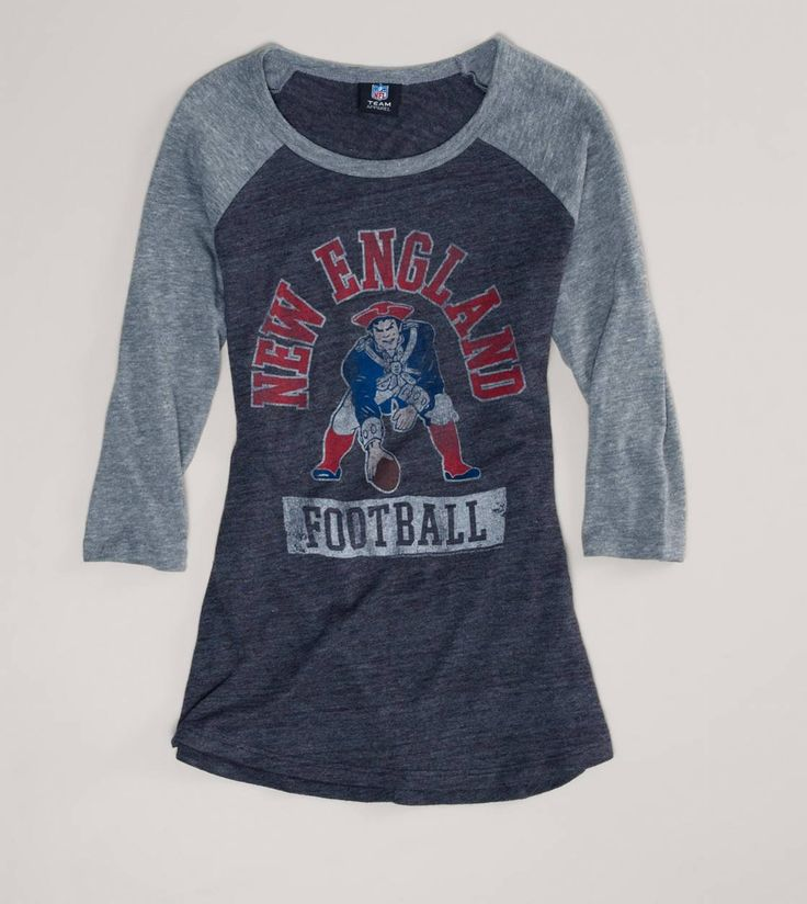 I will definitely need this one too! New England Patriots NFL Raglan T