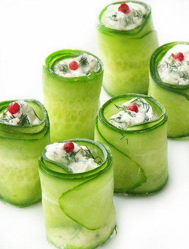Christmas cucumber rolls :)